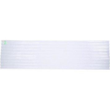 Tuftex Polycarb 2.17-ft x 12-ft Corrugated Polycarbonate Roof Panel 1413C