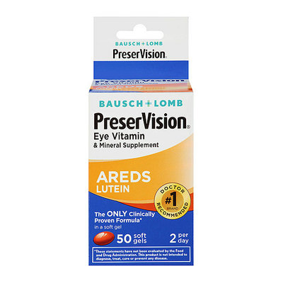 Bausch + Lomb Bausch & Lomb PreserVision Eye Vitamin And Mineral Supplement With Lutein