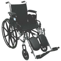 Nova Lightweight Wheelchair with Flip-Back Desk Arms and Elevating Leg Rests