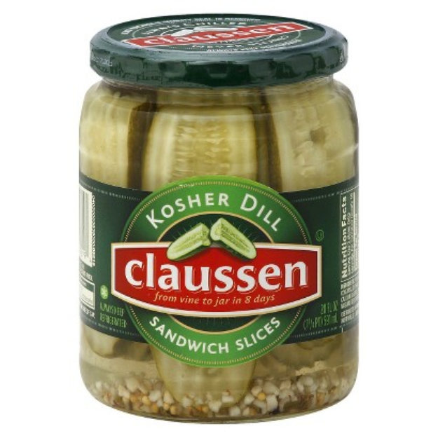 Claussen Dill Sandwich Pickle Slices 20 oz