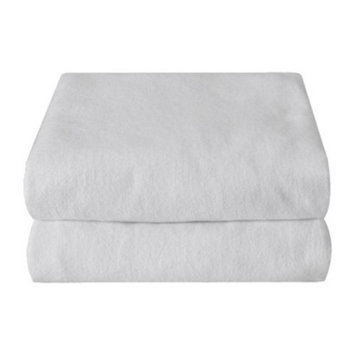 Royal Heritage Cotton Flannel Pack & Play Crib Sheets 2-pk - White