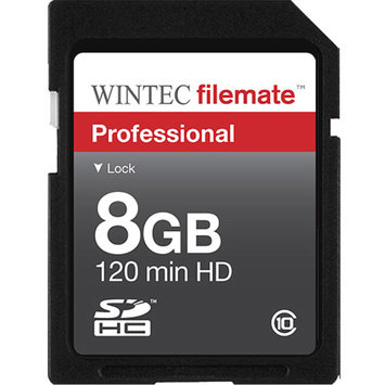 Wintec FileMate 8GB Professional SDHC Flash Memory Class 10