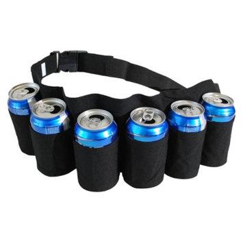 Big Mouth Toys Redneck 6 Pack Beer and Soda Can Holster Belt - Black