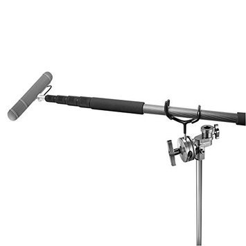 Neewer Black Metal Microphone Boompole Support Holder