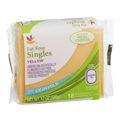 Ahold Cheese Singles American Yellow Fat Free - 16 CT