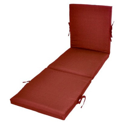 Threshold Outdoor Chaise Lounge Cushion - Red Textured