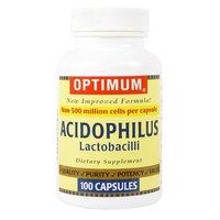 Optimum Acidophilus Lactobacilli Capsules, 100 Count (Pack of 2)