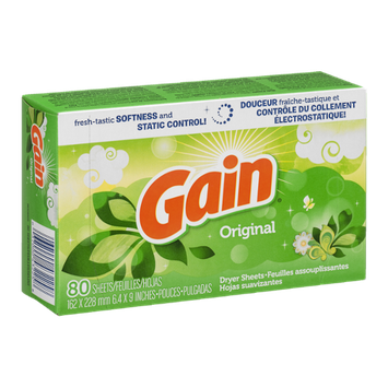 Gain Dryer Sheets Original - 80 CT