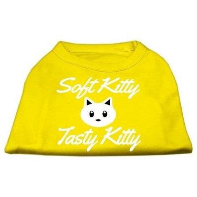 Mirage Pet Products 51-126 XSYW Softy Kitty, Tasty Kitty Screen Print Dog Shirt Yellow XS - 8
