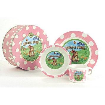 Michel Design Works Pink Snuggle Bunny Plate Set