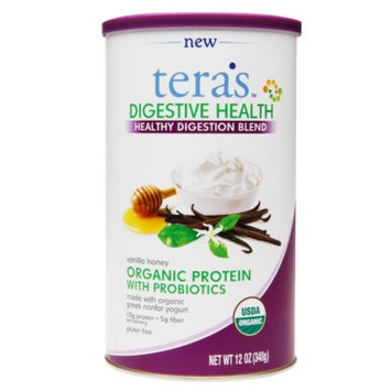 tera's whey Organic Digestive Health, Vanilla & Honey, 12 oz
