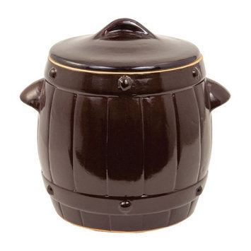 TSM Products Brining Barrel Crock with Lid, Size: 2.6 gal.