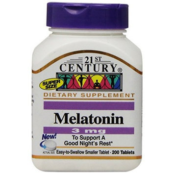 21st Century Melatonin 3 mg Tablets, 200-Count