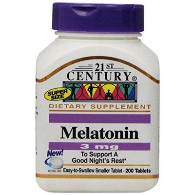 21st Century Melatonin 3 mg Tablets, 200-Count
