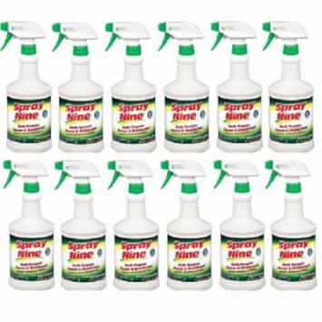 Spray Nine 26832 Multi-Purpose Cleaner and Disinfectant - 32 oz., (Pack of 12)