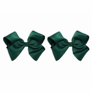 Greatlookz Hair Bow with Extra Large Grosgrain Bow on Alligator Clip, Set of 2