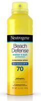 Neutrogena® Beach Defense® Water + Sun Protection Sunscreen Spray Broad Spectrum SPF 70