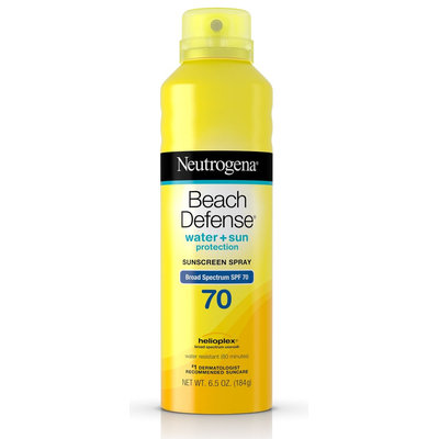Neutrogena® Beach Defense® Water + Sun Protection Sunscreen Spray Broad Spectrum SPF 70