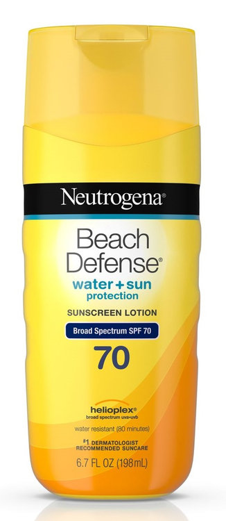 Neutrogena® Beach Defense® Water + Sun Protection Sunscreen Lotion Broad Spectrum Spf 70