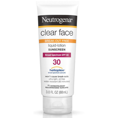 Neutrogena® Clear Face Break-Out Free Liquid Lotion Sunscreen Broad Spectrum SPF 30