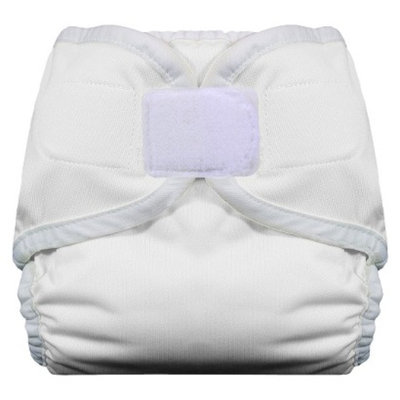 Thirsties Reusable Diaper with Hook & Loop, Small - White