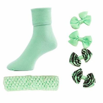 Greatlookz From Head to Toe Girls Hair Bows, Headband and Matching Socks