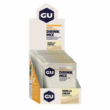 GU Recovery Brew Drink Mix: Vanilla Cream, 12 Pack