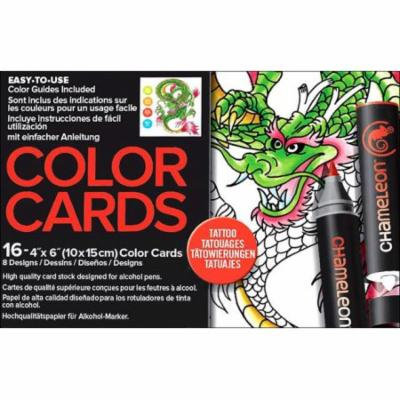 Chameleon Color Cards 4x6 Tattoo 16pc