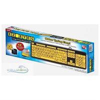 EZ Eyes - Large Print Keyboard - Black/Neon Yellow
