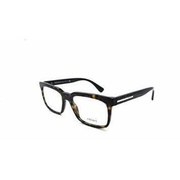 Prada Rx Eyeglasses Frames Vpr 28R 2au-1o1 54x18 Dark Havana Made In Italy