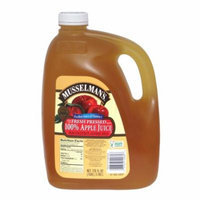 Musselman's Fresh Pressed Apple Juice, 128 FL OZ (Pack of 4)