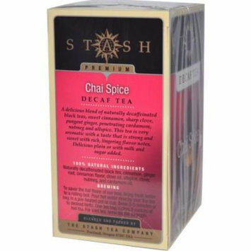Stash Tea, Chai Spice, Decaf, Bags, 18 CT (Pack of 6)