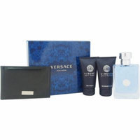 Versace Pour Homme By Versace Gift Set For Men 4 Pieces Set