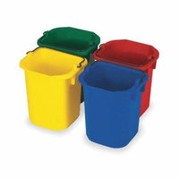 Disinfectant Pail, 5 Qt, Rd, Yellow, Blue, Green, PK4