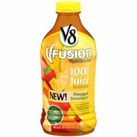 V8 V-Fusion Pineapple Strawberry Juice, 46 FL OZ (Pack of 6)
