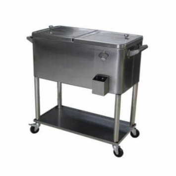 Permasteel 80 qt. Stainless Steel Patio Cooler With Bottom Tray