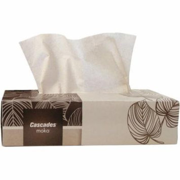 Cascades Moka 2-Ply Facial Tissue, Beige, 100 sheets, (Pack of 30)
