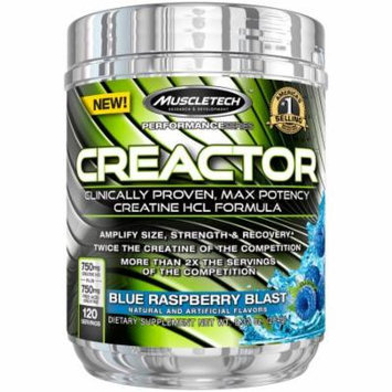 MuscleTech Creactor, Blue Raspberry Blast, 120 servings