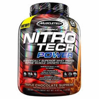 MuscleTech Nitro Tech Power, Triple Chocolate Supreme, 4 lbs