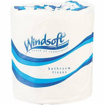 Windsoft White 1-Ply Toilet Tissue Rolls, 1000 sheets, 96 rolls