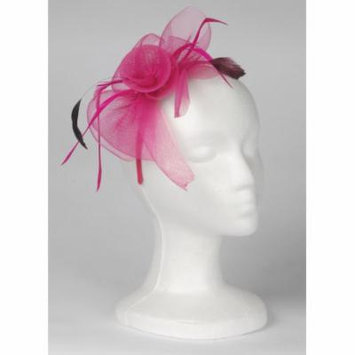 Loftus Women Pink Flower & Feather Mesh Headband, Pink, One Size