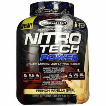 MuscleTech Nitro Tech Power, French Vanilla Swirl, 4 lbs