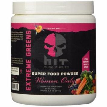 HiT Supplements Supreme Greens for Women, Citrus Splash, 30 servings