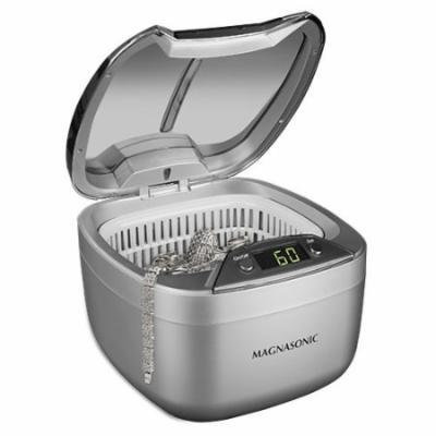 Magnasonic Professional Ultrasonic Jewelry Cleaner, Dual-Wave Heavy Duty Cleaning, Large Tank, Digital Timer