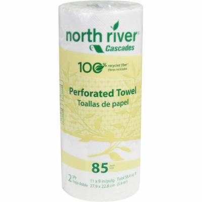 Cascades North River 2-Ply Perforated Roll Towels, 85 sheets, 30 rolls