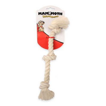 Mammoth Pet Products 3 Knot Rope Tug Dog Toy in White