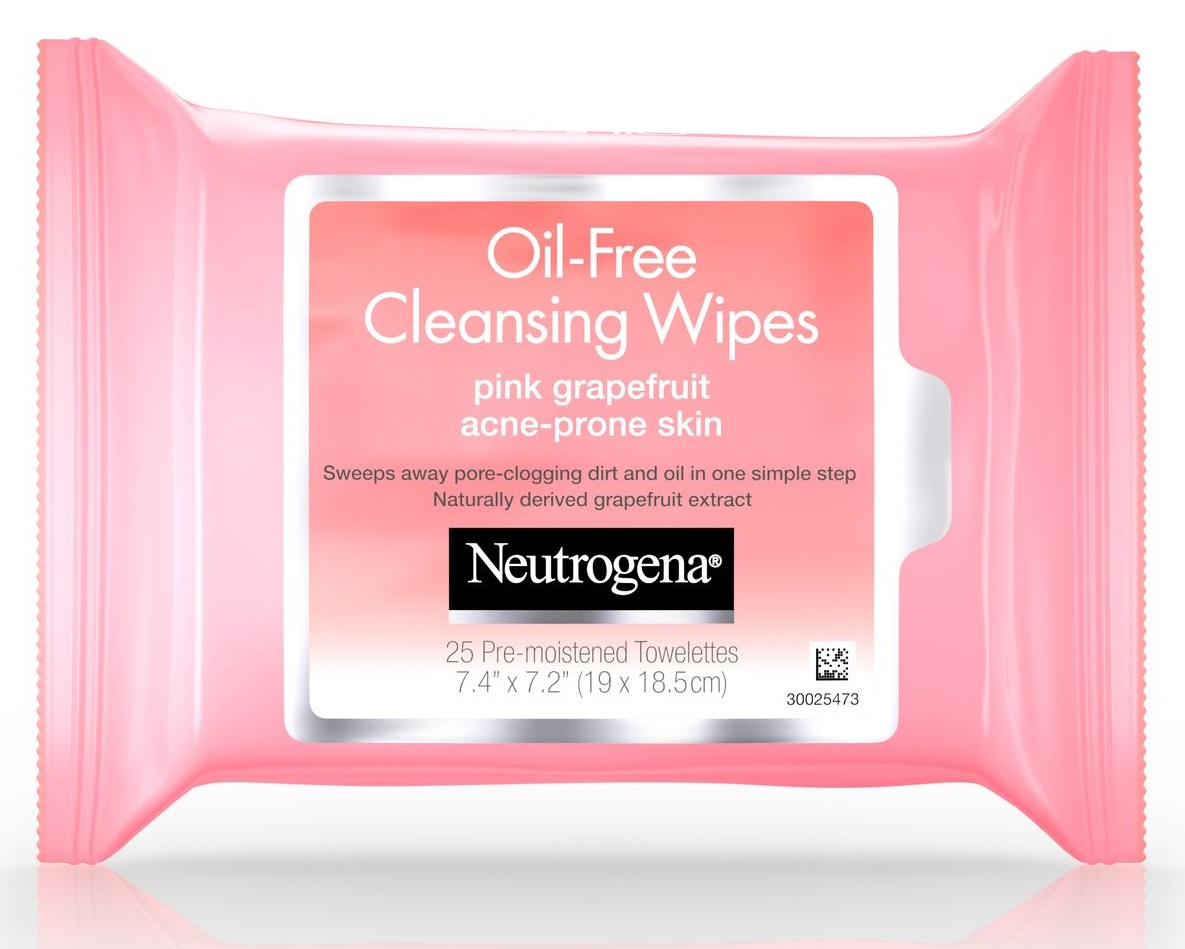 Neutrogena® Oil-Free Cleansing Wipes-Pink Grapefruit
