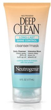 Neutrogena® Deep Clean® Long-Last Shine Control Cleanser/Mask