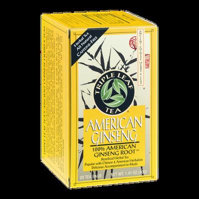 Triple Leaf Tea American Ginseng Tea - 20 CT