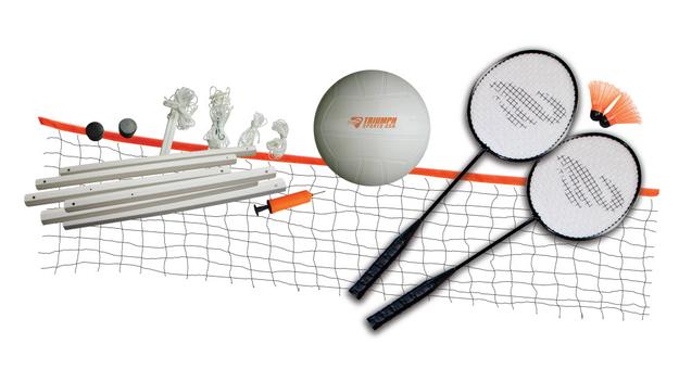 Triumph Sports USA Volleyball/Badminton Combo Set 35-7105